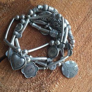 Silvery bracelet, motivational